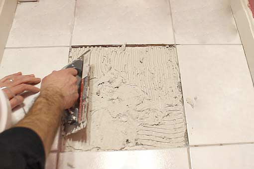 Cracked Tile Replacement Raleigh