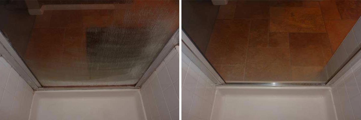Glass Shower Door Hard Water Stain Removal Raleigh