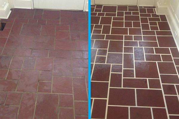 Grout Color Sealing - Contour Cleaning