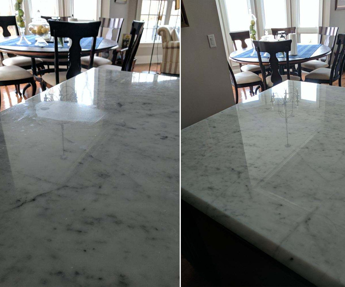 Marble Countertop Etch & Scratch Removal