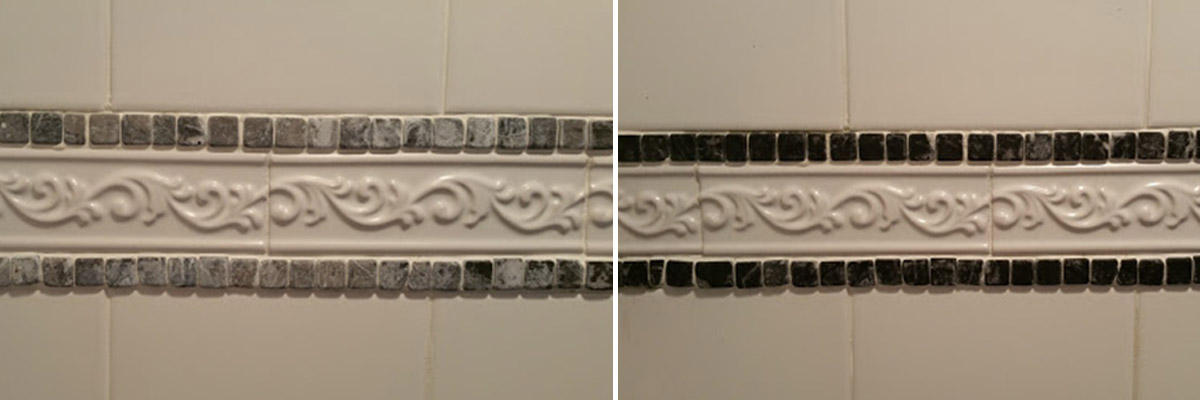 Small Mosaic Tile Restoration - Hard Water Damage | Raleigh, NC