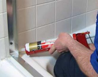 Shower Bath Recaulking Silicone Replacement Contour Cleaning - Clear silicone caulk for shower